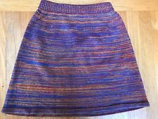 American Apparel Marled 100% Cotton Sweater Knit A-Line Skirt S USA