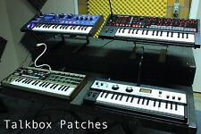 TALKBOX PATCHES (DX100, microKORG, MiniNova, JD-Xi, MicroBrute + MORE)