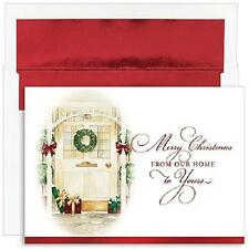 Golden Front Door Boxed Holiday Christmas Cards - Set of 18