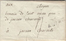 Lettre France 15 AIGRE AN6 Charente Cover Brief