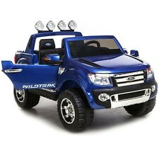 Ford Ranger Pick Up Truck 4x4 Ute 12v Kids Ride On Remote Control Toy Blue
