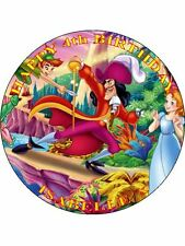 "PETER PAN - DESIGN 1 PERSONALIZED 7.5"" CIRCLE ICING CAKE TOPPER"