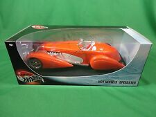 2001 100% Hot Wheels 1/18 Diecast Speedster Mint in Box