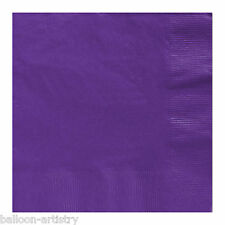 50 Purple 33cm Paper Napkins Serviettes Birthday Wedding Party Catering