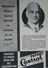 Sir Herbert Austin Castrol Motor Oil 1935 Advertisement Ad 8698