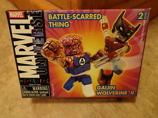 2004 DIAMOND SELECT--MINIMATES MARVEL UNIVERSE--THING & WOLVERINE FIGURES (NEW)
