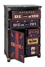 Commode 6 noir-vintage Dim : L60 x H100 x P33 cm