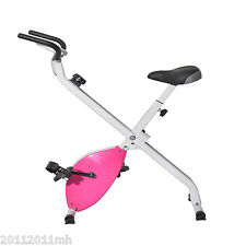 Upright Stationary Foldable Magnetic Exercise Bike Whole Body Workout Machine