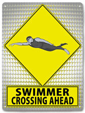 SWIMMER Metal Sign summer olimpics water sports retro BOYS room wall decor 641