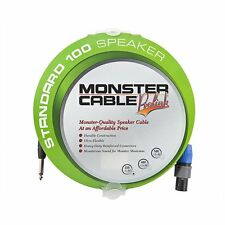 "Monster Cable Standard 100 - 25' - Speak-On to Straight 1/4"" Plugs Guitar Cable"