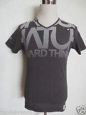 V T-Shirt CROSSHATCH BLACK LABEL S  grau anthrazit TIP TOP /G1