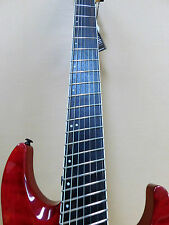Haze F7 Fanned Frets 7-String Electric Guitar - Trans Red + Gig Bag + FULL KIT