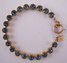 Catherine Popesco 14k G Plated Small Midnight Blue Swarovski Crystals Bracelet