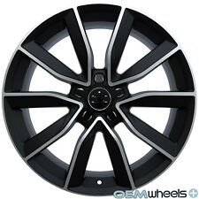 "18"" S-LINE STYLE RIMS WHEELS SET BLACK MACHINED FITS AUDI VW EDM 5X112 B7 B8 D2"