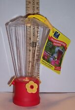"Hummingbird Feeder with 3 Feeding Ports - Holds Up To 10 Ounces - @ 6 1/2"" Tall"