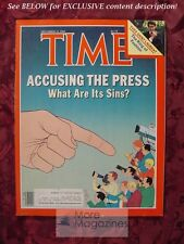 TIME Magazine December 12 1983 12/12/83 THE PRESS YVES SAINT LAURENT