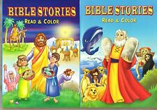 2 Christian Coloring Books: Bible Stories Read and Color