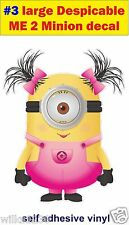 N3 LARGE Despicable me 2 minions Funny Decal sticker car vw van jdm kids bedroom