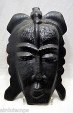 MASQUE ART TRIBAL PRIMITIF AFRICAIN bois sculpté patine noire XXè