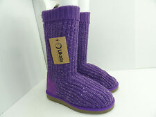 Ukala Women's W80120 Sydney Valerie High Violet Pull On Boots Size 5