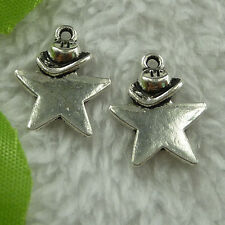 free ship 360 pieces tibet silver star charms 19x15mm #2816