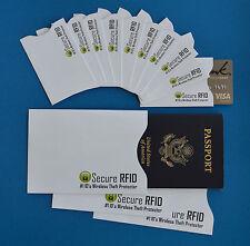 RFID Protection RFID Protector RFID Security 10+3 Creditcard Passport Sleeves