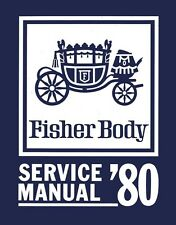 1980 Buick Cadillac Chevrolet Fisher Body Service Shop Repair Manual Convertible