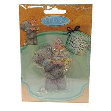 75 x 60mm CLEAR STAMP-ME TO YOU le Madri Giorno/Compleanno Teddy & CAKE STAND