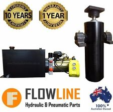Hydraulic Ram Cylinder with Hydraulic Power pack  - Tipper Trailer Kit- 800mm