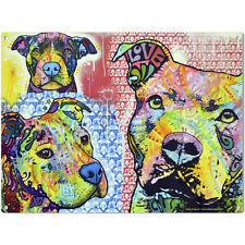 Thoughtful Pit Bulls Love Dean Russo Dog Sign Pet Steel Wall Decor 16 x 12