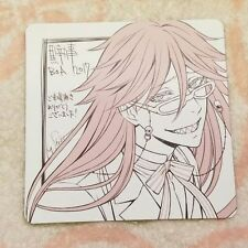 Black Butler Coaster Grell Sutcliff Book of the Atlantic Limited Movie Anime F/S