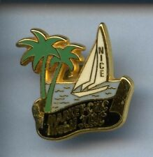 RARE PINS PIN'S .. PETROLE OIL MOBIL STATION VOILIER VOILE BATEAU NICE 06 ~W1