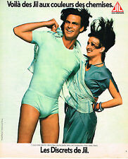 PUBLICITE ADVERTISING 074  1976  LES DISCRETS DE JILL  slips sous vetements