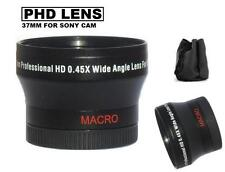37mm Phd Wide Angle Lens for Sony HDR-CX700V CX560V PJ10 XR260V CX160 CX130 +