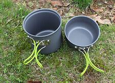 2pcs-Set-Cookware-Outdoor-Pot-Pan-Camping-bag Lightweight Hiking Cooking DS101