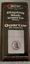 1 Pack of 25 BCW Brand Quarter Coin Display Slab Foam Inserts in White only