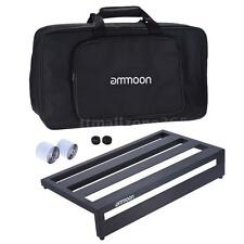 ammoon Portable Guitar Effect Pedal Board with Black Bag Mounting Tapes US G9L6