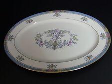 """Lenox BLUE TREE White Oval Serving Platter 15 3/4"""" Black Mark"""