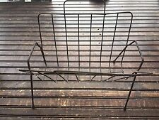 Vintage Black Wire Magazine Rack