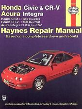 1996-2001 Honda Civic CRV CR-V Acura Integra Repair Service Manual 2000 99 5826