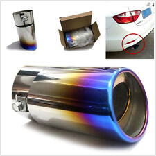 Bluing Stainless Steel Auto Car SUV Rear Exhaust Pipe Tail Muffler Tip Colorful