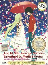 DVD Ano Hi Mita Hana Episode 1-11end AnoHana Romance Anime Box set Free Shipping