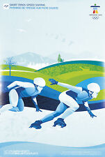 "2010 Vancouver Olympic Short Track Speed Skating Poster Mint Size: 18"" x 27"