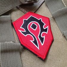 WOW World of Warcraft Tribe Terran Game Red EMBROIDERED Hook & Loop VELCRO PATCH