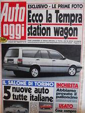 Auto OGGI n°177 1990 Test Chevrolet Bel Air Corvette Sting Ray 1968 1980 [Q200]