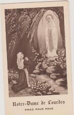 IMAGE PIEUSE HOLY CARD SANTINI/N.DAME DE LOURDES/PALAIS ROSAIRE/CANTIQUES/