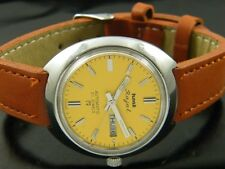 VINTAGE HMT RAJAT AUTOMATICO UOMO INDIANO DAY / DATE WATCH lot870-a54501