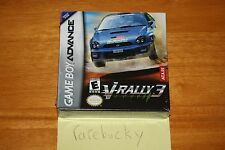 V-Rally 3 (Gameboy Advance) - NEW SEALED H-SEAM, MINT, SUPER RARE!