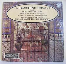 """33T G ROSSINI Disque LP 12"""" Neville MARRINER Edo DE WAART - MUSIQUE ALPHA N° 41"""