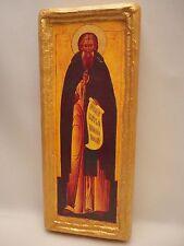 Saint Sergius Sergio Sergei Serge Sargis Eastern Orthodox Icon on Wood